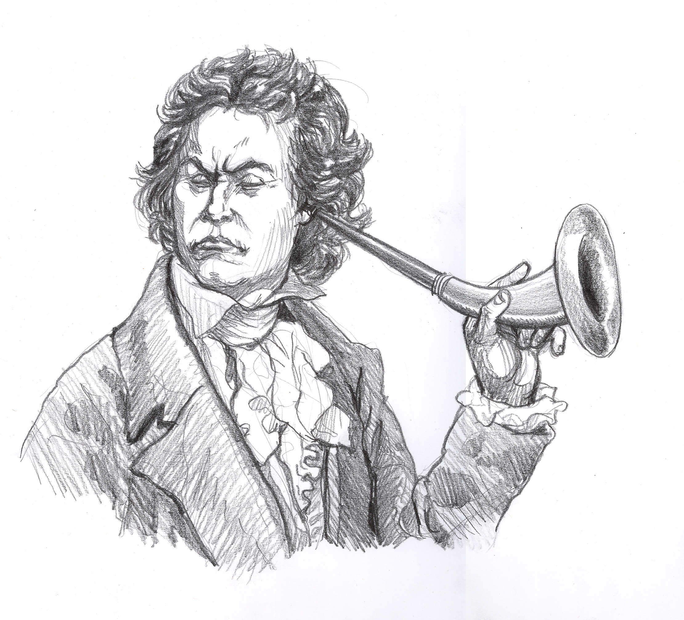 Saxophone in addition Person Born With Tail additionally Crow Sitting On Skull Tattoo On Leg together with 302 El Narval Extrano Unicornio Marino further Orchestrating Your Pr And  munications 3 Lessons From Ludwig Van Beethoven. on old horns cartoon